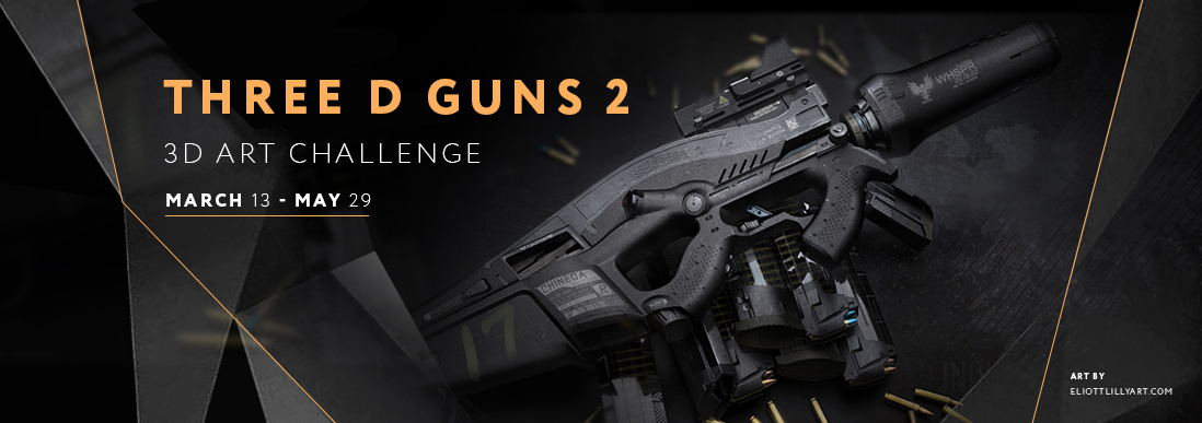 Three D Guns 2 Competition for 3D Artists