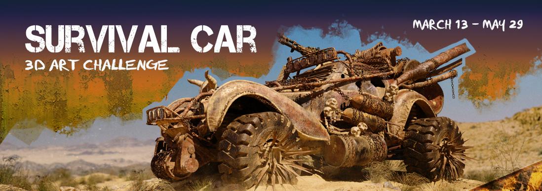 Survival Car - Post-Apocalyptic Car render Challenge