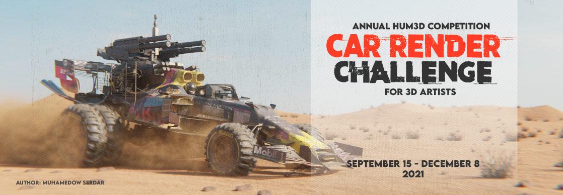 Car Render Challenge 2020 for 3D Artists