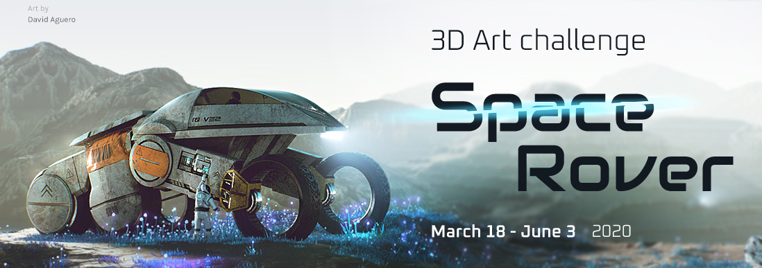 Space Rover 3D Competition for 3D Artists
