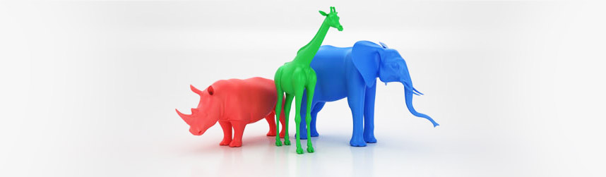 Print ready 3d animals