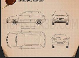 Seat Ibiza 3-door 2002 Blueprint
