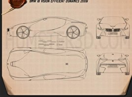 BMW i8 concept 2009 Blueprint