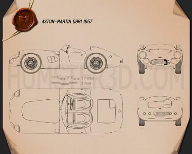 Aston Martin DBR1 1957 Blueprint