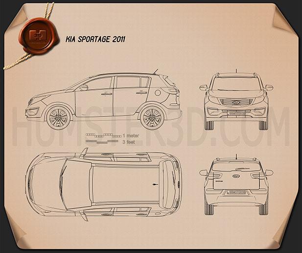 Kia Sportage 2011 Blueprint