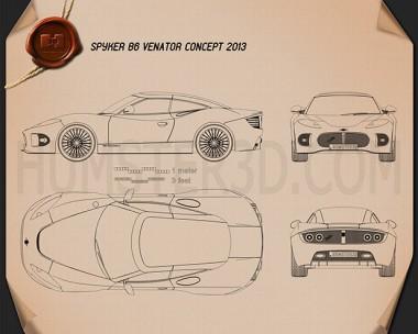 Spyker B6 Venator 2013 Blueprint