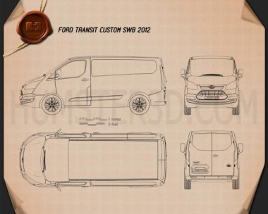 Ford Transit Custom SWB 2012 Blueprint