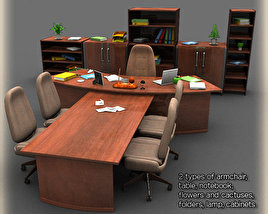 Office Set 2 3D model
