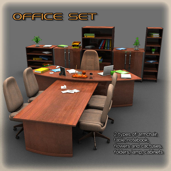 Office Set 2 3D model