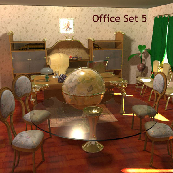 Office Set 05 3D model