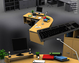 3D model of Office Set 3