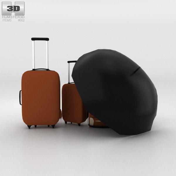 Travel Bags 3d model