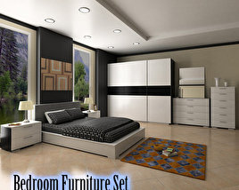 3D model of Bedroom Furniture 4 Set