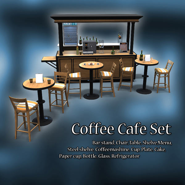 Coffee Cafe Set 3D model