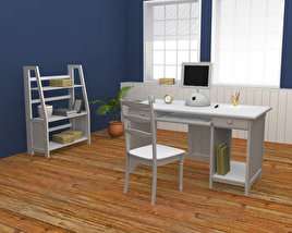 3D model of Home WorkPlace Set 01