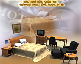 3D model of Hotel Room 01