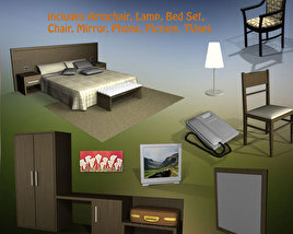 3D model of Hotel Room Set 02