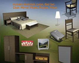 Hotel Room Set 02 3D model