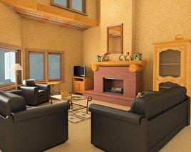Living Room Set 01 3D model