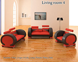 3D model of Living Room 4 Set