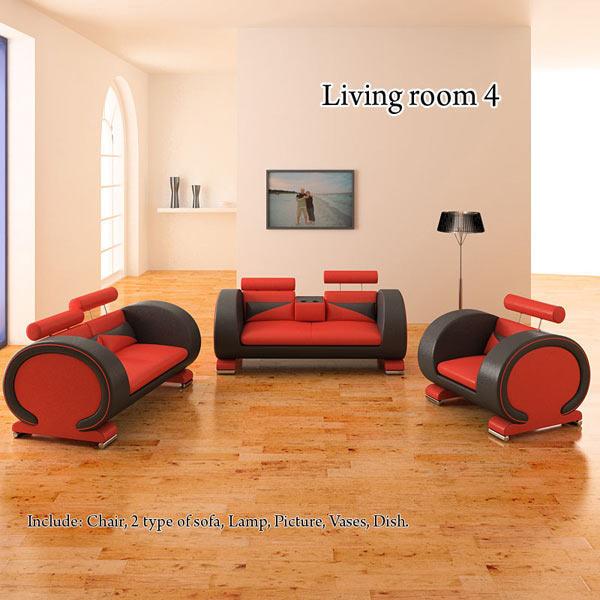 Living Room 4 Set 3d model