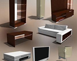 3D model of Living Room 2