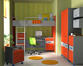 3D model of Nursery Room 3
