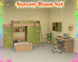 3D model of Nursery Room 04 Set