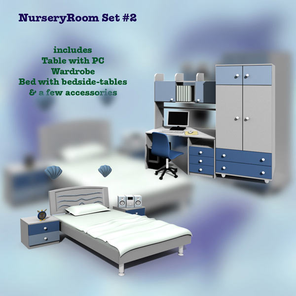 Nursery Room 02 Set 3D model