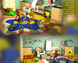3D model of Nursery Room 01
