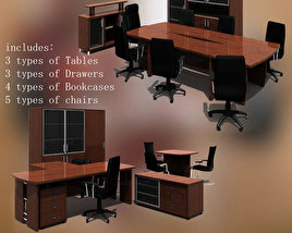 3D model of Office Set 08