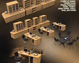 3D model of Office Set 10