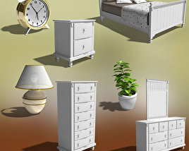 3D model of Bedroom Furniture 06 Set