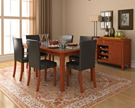 3D model of Dining Room 1 Set