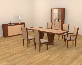 3D model of Dining Room 2 Set
