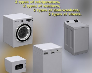 3D model of Household Appliances Set