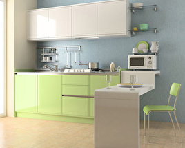 3D model of Kitchen Set 03