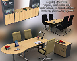 3D model of Office Set 11