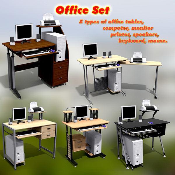 Office Set 14 3d model