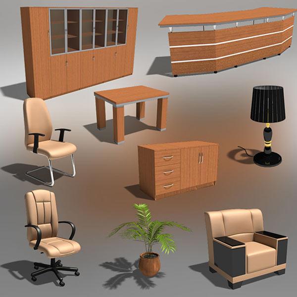 Office 22 Set 3d model