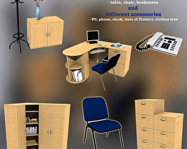 3D model of Office Set 07