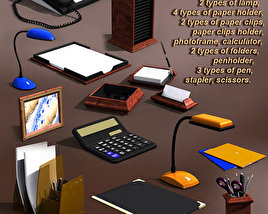 3D model of Office Supplies Set