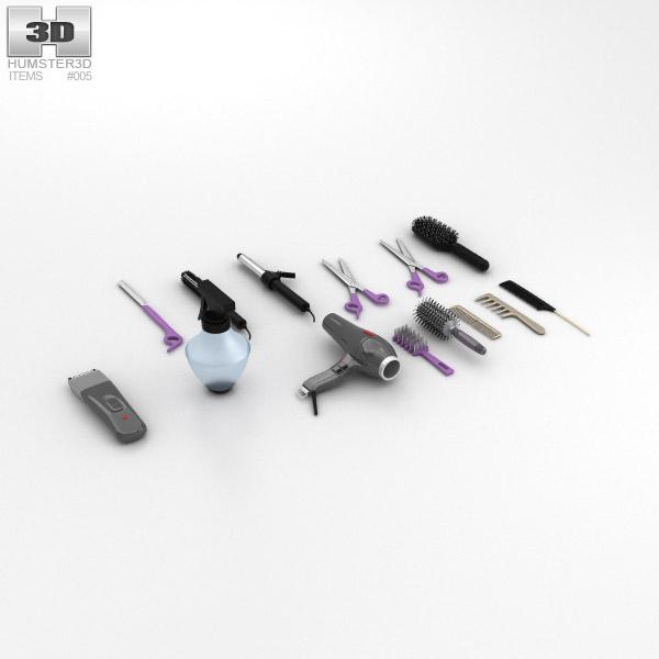 Ensemble de salon de coiffure Modèle 3d