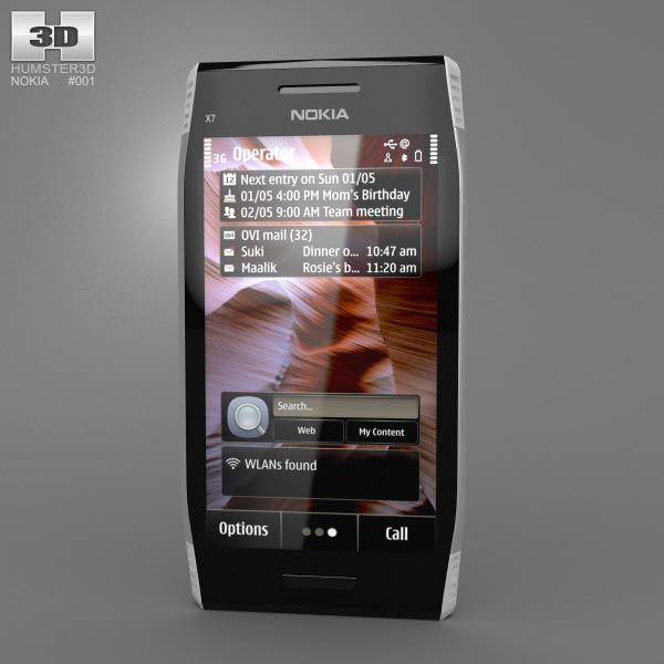 Nokia X7-00 3D model