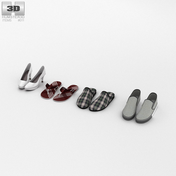 3D model of Footwear Summer Set
