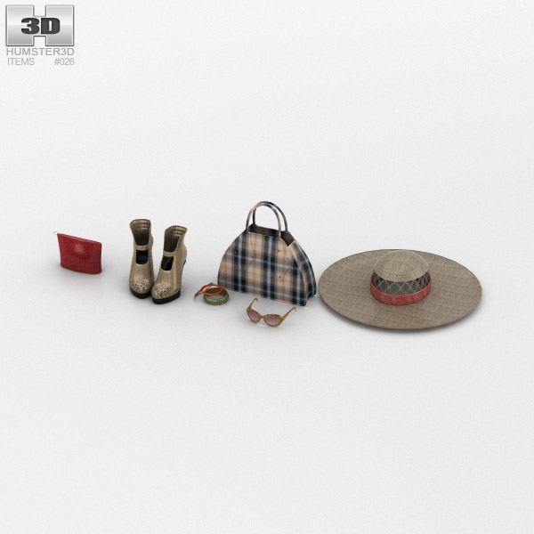 Woman Accessories 3D model