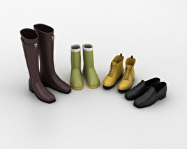 3D model of Footwear Set Winter