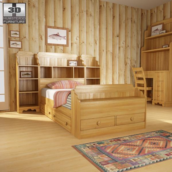 Bedroom furniture set 13 3D model