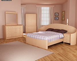 3D model of Bedroom Furniture 16 Set