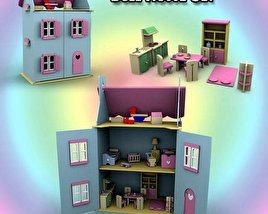 3D model of Doll House Set 01